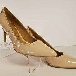 Calvin Klein Beige Patent Leather Pump Heels